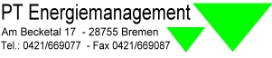 PT Energiemanagement, Am Becketal 17, 28755 Bremen